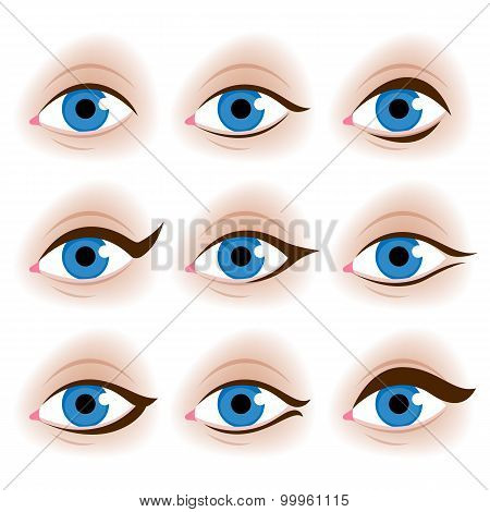 Realistic woman's eyes vector illustration.