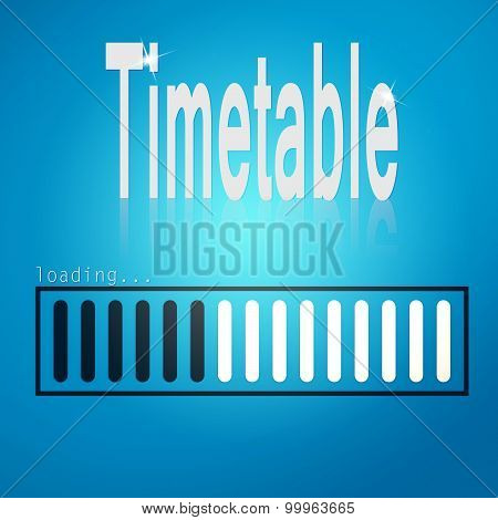 Blue Loading Bar With Timetable Word