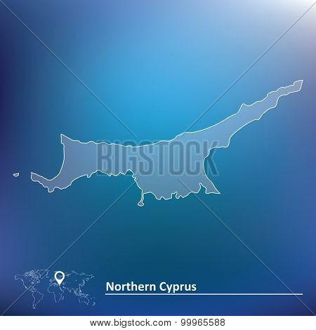 Map of Northern Cyprus - vector illustration