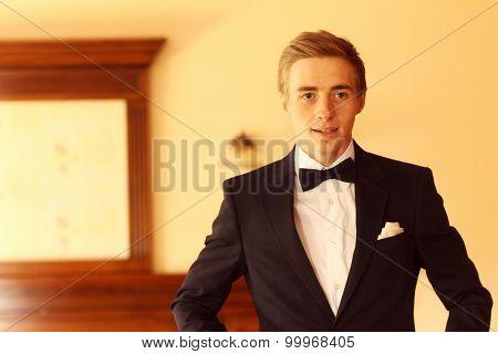 Elegant Groom Posing