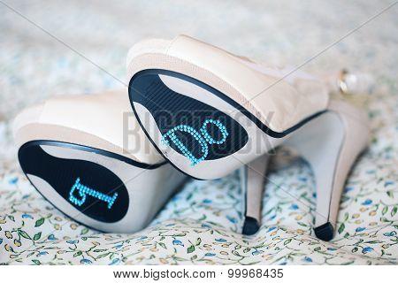 Bride's High Heel Shoes