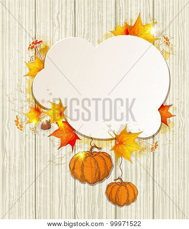 Maple Leaves And Pumpkins