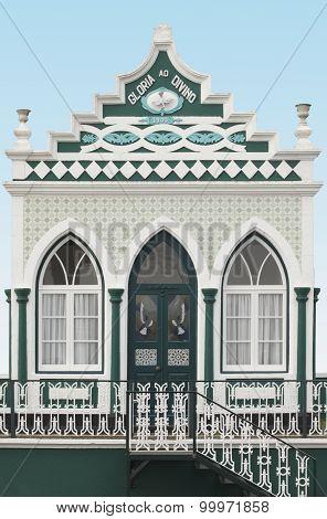 Traditional Azores Chapel. Imperio Do Espiritu Santo. Terceira. Portugal