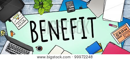 Benefit Income Incentive Profit Bonus Concept