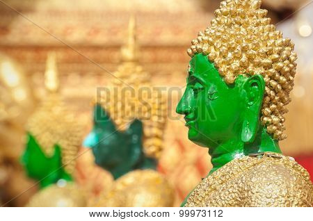 Profile Of Green Buddha Statue At Wat Phra That Doi Suthep, Chiang Mai, Thailand