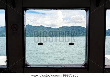 Approaching The Thai Island Of Koh Chang Onboard The Local Ferry