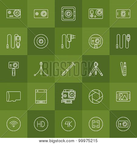 Action camera vector set