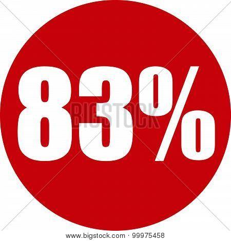 83 Percent Icon
