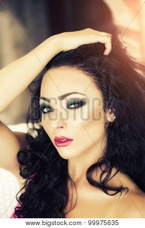 Brunette Woman Portrait