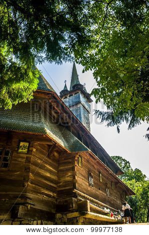 Traditional Wooden Church In Maramures Area, Romania