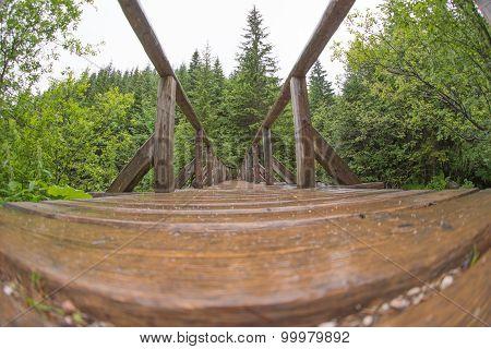 View of bridge - fisheye distortion