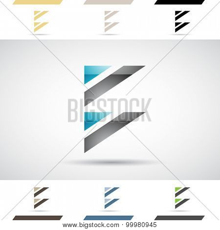Design Concept of Colorful Stock Icons and Shapes of Letter B, Vector Illustration