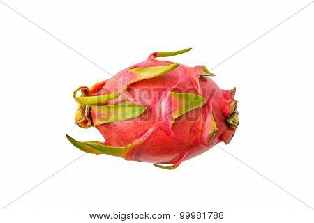 Dragon Fruit isolate whitebackground with clippingpath