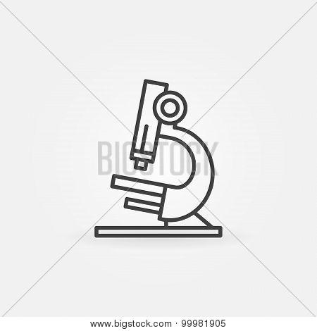 Microscope icon or logo