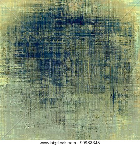 Old texture with delicate abstract pattern as grunge background. With different color patterns: yellow (beige); brown; gray; blue