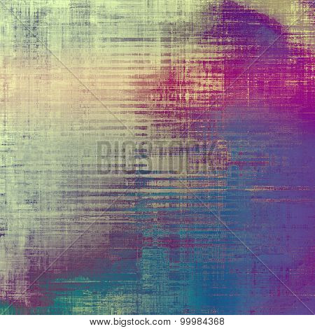 Grunge stained texture, distressed background with space for text or image. With different color patterns: yellow (beige); gray; purple (violet); blue