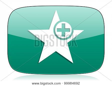 star green icon add favourite sign