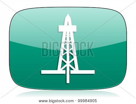 drilling green icon