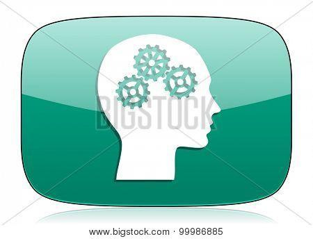 head green icon human head sign