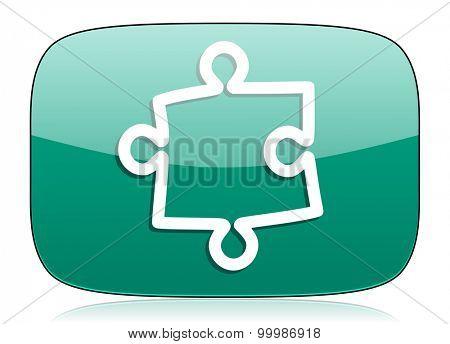 puzzle green icon