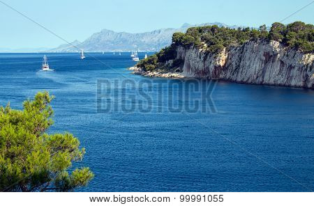Seaview in Makarska, Croatia.