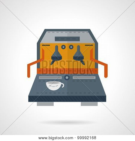 Coffee equipment flat color vector icon