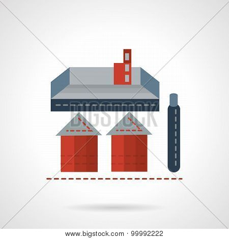 Storage structure flat vector icon