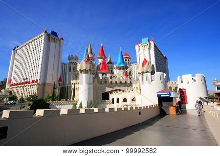 Las Vegas, Usa - March 19: Excalibur Hotel And Casino On March 19, 2013 In Las Vegas, Usa. Las Vegas