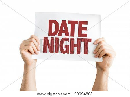 Date Night card isolated on white