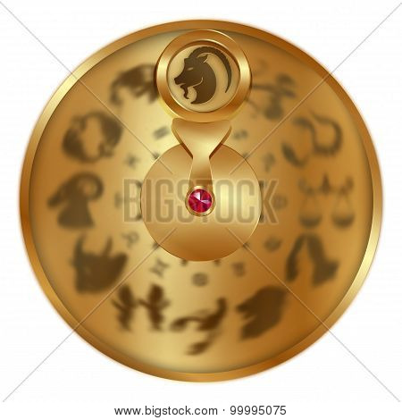 Capricorn On A Golden Disk
