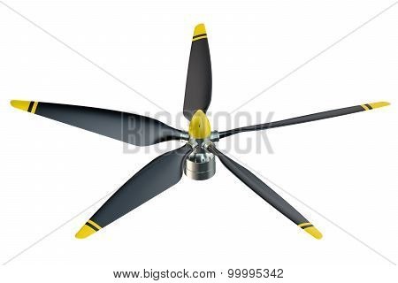 Airplane Propeller With 5 Blades