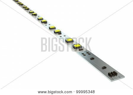 Led Diode Stripe Closeup