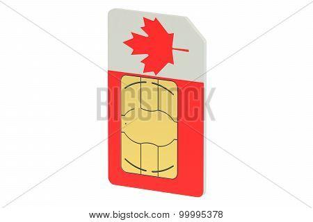 Sim Card With Flag Of Canada
