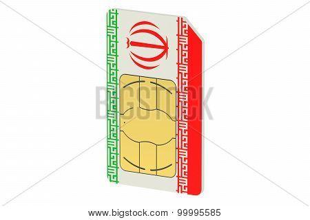 Sim Card With Flag Of Iran