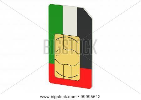 Sim Card With Flag Of Uae