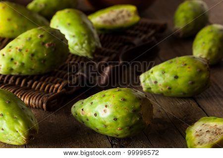 Raw Organic Green Cactus Pears