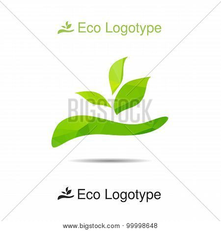 Ecology Logo Or Icon In Eps, Nature Logotype