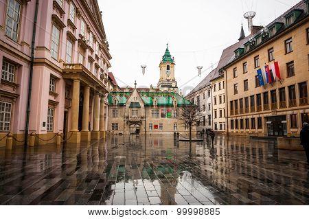 Main Square, Hlavne Namestie In Bratislava, Slovakia