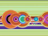 Stripe Crop Circle Techno poster