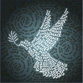 Day Related In Shape Of Peace Symbol poster