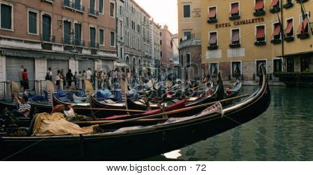 Row Of Gondolas