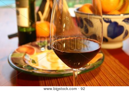 Wine Glass At Table